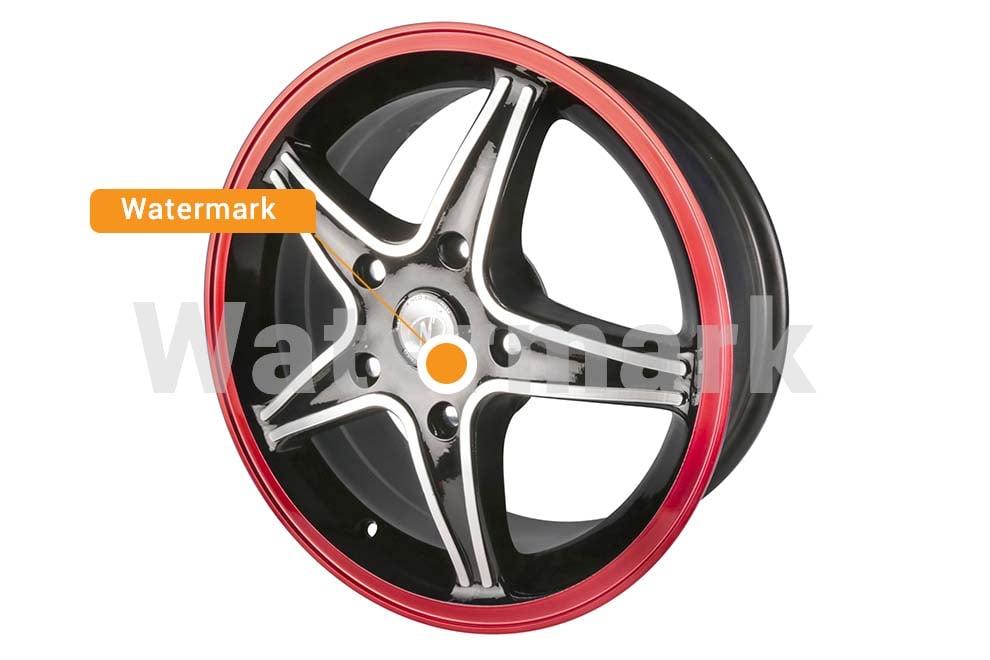 Wheel watermark centerpoint