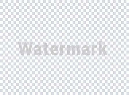Watermark over transparent background